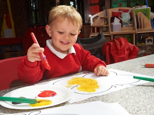 Pre-prep children painting